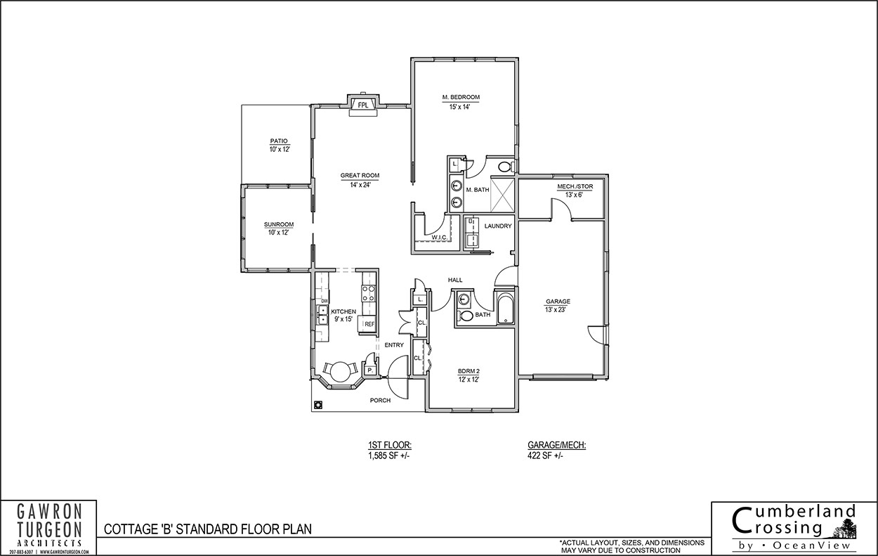 Cottage Floor Plan B