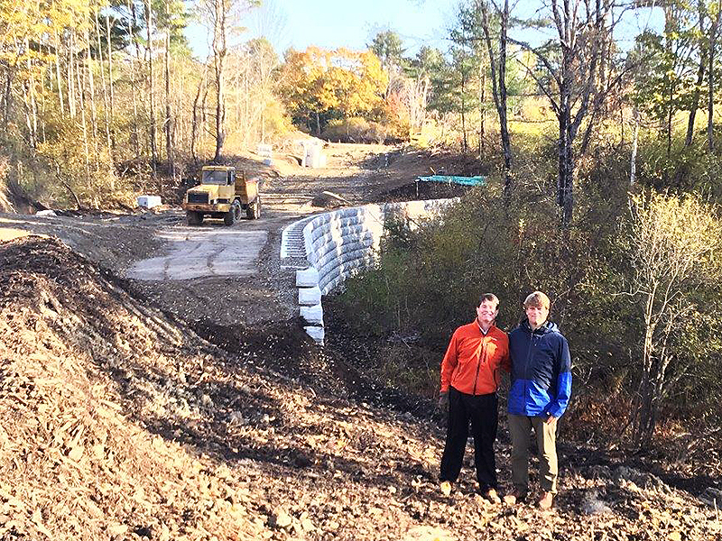 Chris and Don, Stream Culvert Constuction