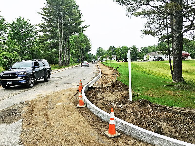 Granite Curbing Instal 7-3-2019