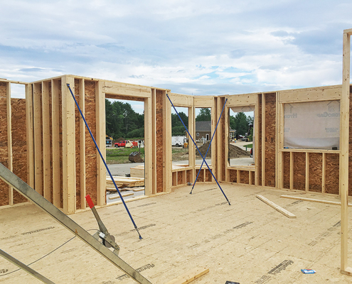 56 Little Acres Drive Studs and Exterior Wall