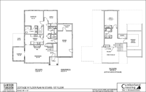 Cottage A with Stairs | Retirement Cottage House Plans