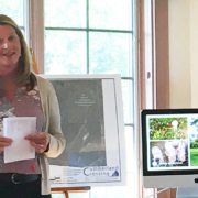 Penny Asherman, Board President of the Chebeague & Cumberland Land Trust