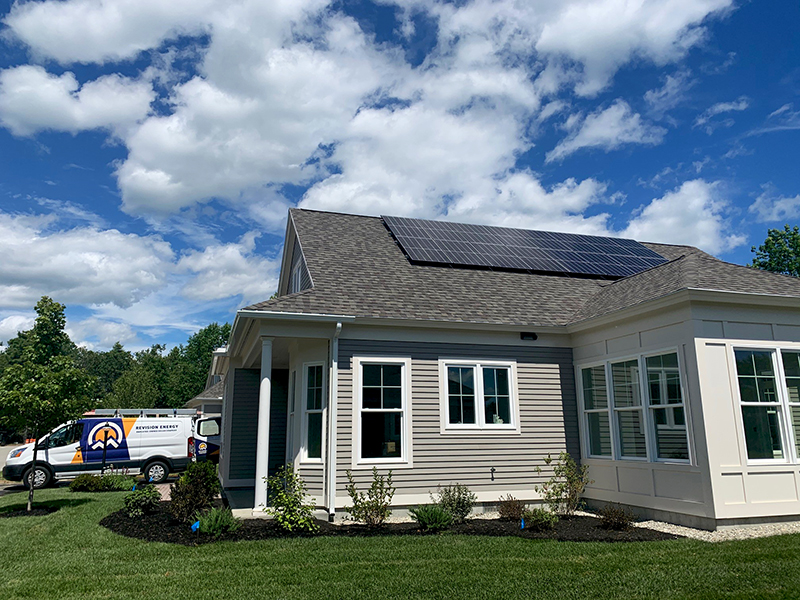 ReVision Energy installing first Tesla Powerwall at Cumberland Crossing.