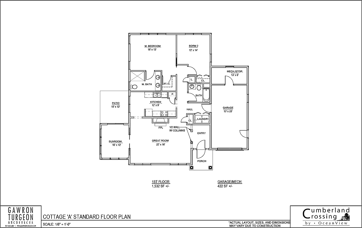 Cottage Floor Plan A